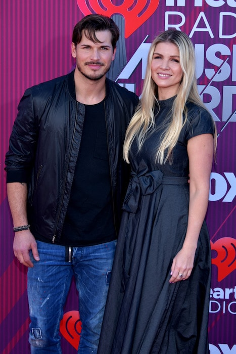 Gleb Savchenko and Elena Samodanova at the 2019 iHeartRadio Music Awards in Los Angeles, California