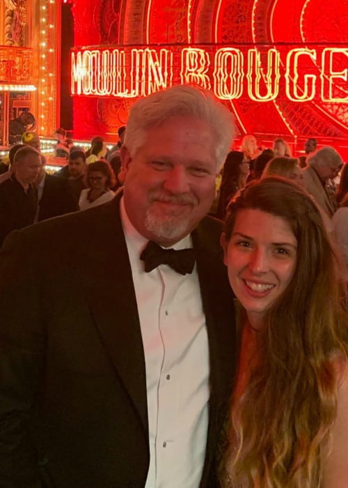 Glenn Beck with his daughter Hannah as seen in July 2019