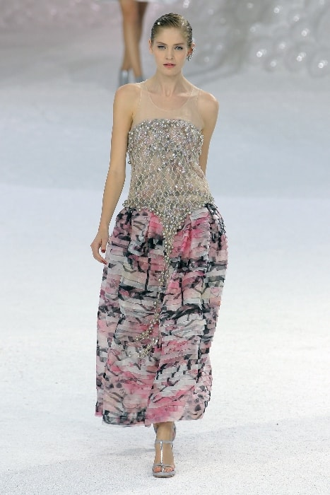 Heidi Mount as seen in a picture while walking the ramp at the Chanel SS2012 show in October 2011