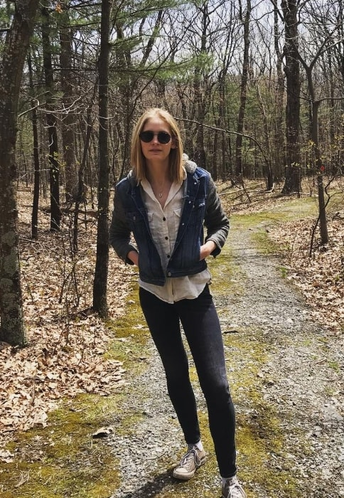 Heidi Mount as seen while posing for a picture during a hike in Craryville, Columbia County, New York, United States in April 2019