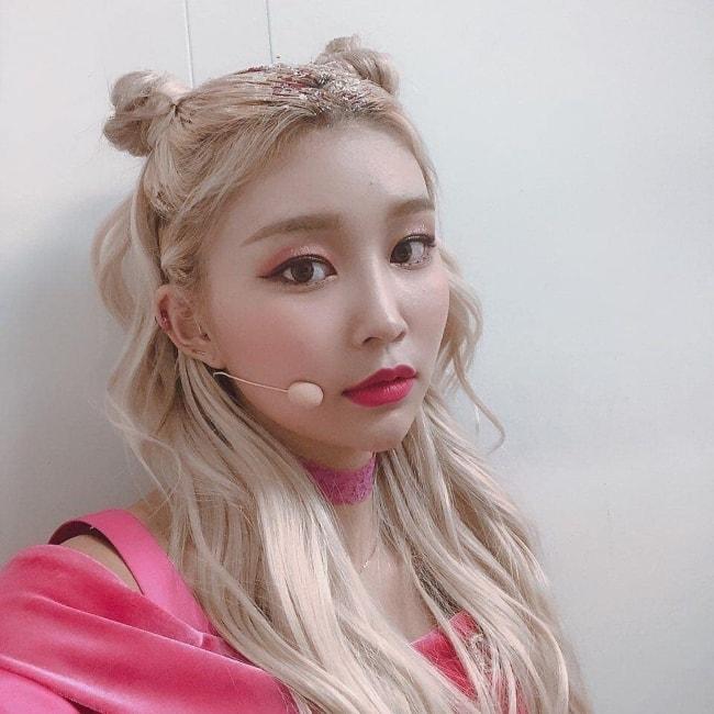 Hyebin as seen in a selfie in January 2019