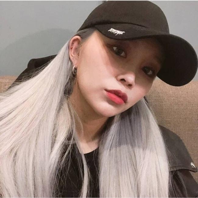 Hyebin as seen in a selfie in November 2018