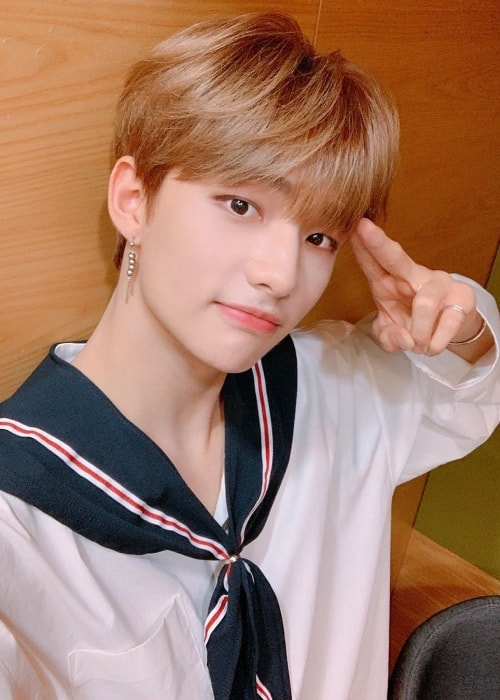 Hyunjin as seen while taking a selfie in 2019