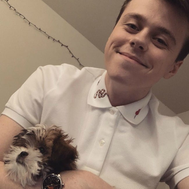 ImAllexx with his dog as seen in May 2019