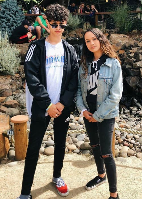 Isaiah Sousa and Mariah Sousa as seen in August 2019