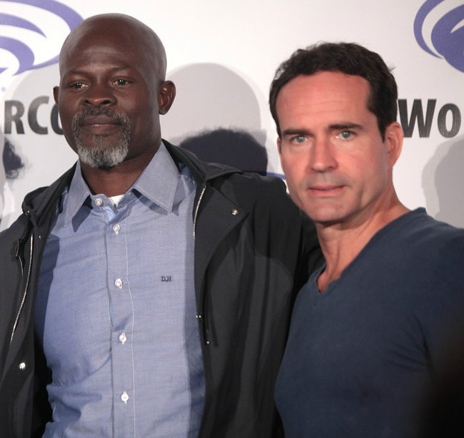 Jason Patric (Right) and Djimon Hounsou as seen in March 2016