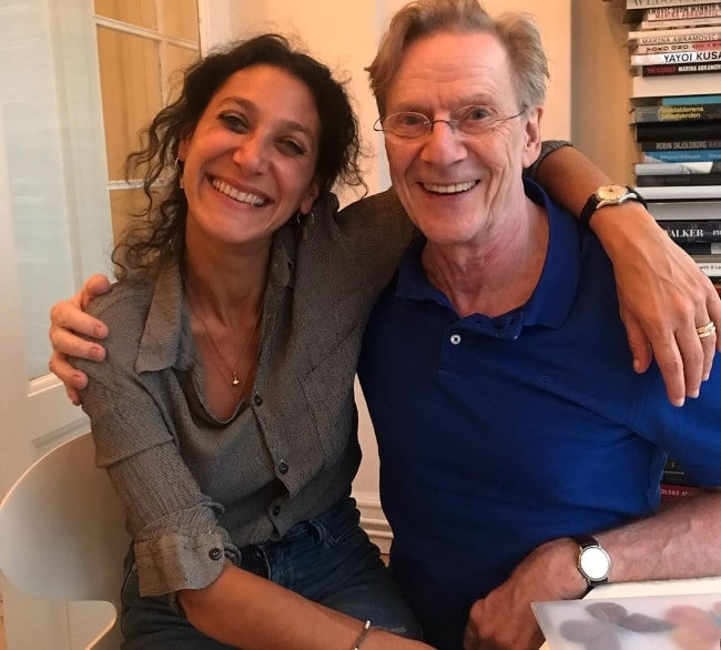 Jesper Christensen as seen while posing for a picture alongside writer and director, Emily Atef, in May 2019