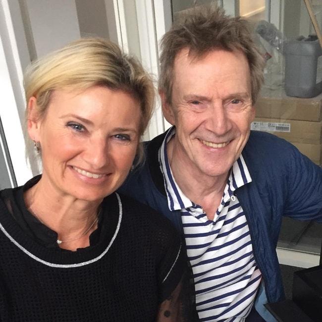 Jesper Christensen as seen while posing for the camera along with Nina Wedell-Wedellsborg in November 2015