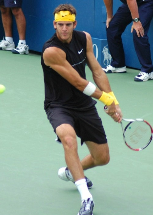 Juan Martín del Potro during the US Open in 2009