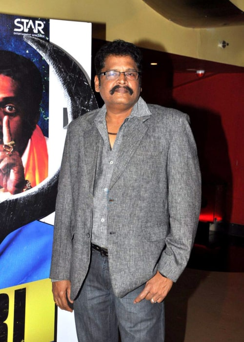 K. S. Ravikumar as seen in a picture taken at the first look launch of his directorial Bollywood debut for the film Policegiri