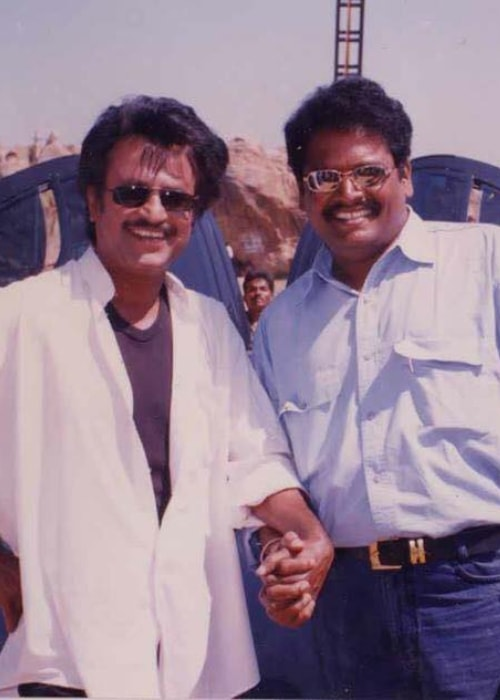 K. S. Ravikumar as seen in a picture with his close friend actor Rajinikanth