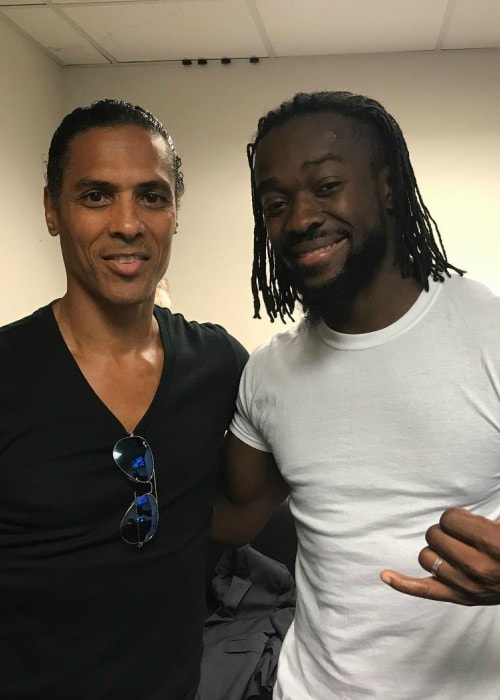 Kofi Kingston (Right) and Taimak as seen in August 2017