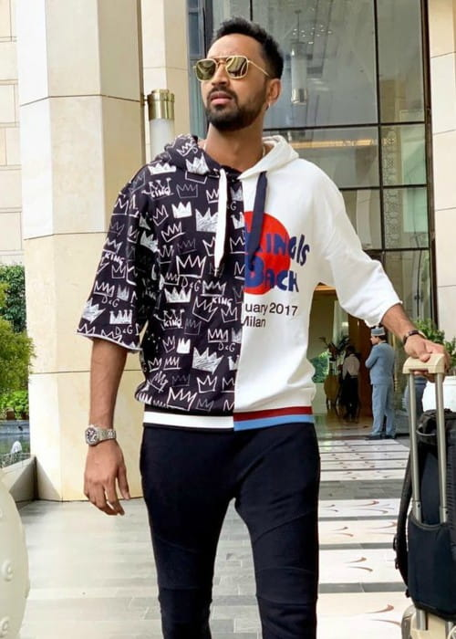 Krunal Pandya as seen in July 2019