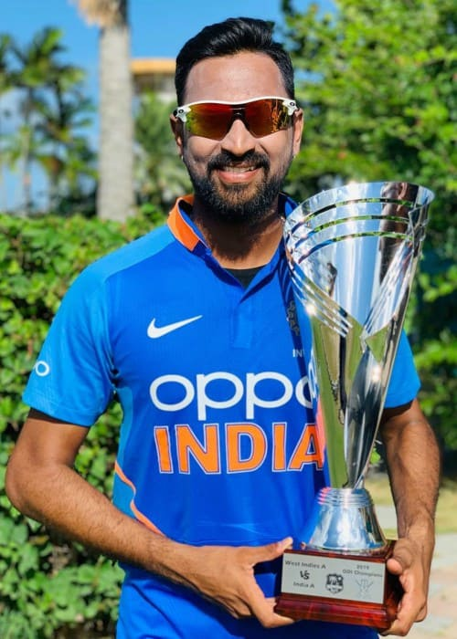 Krunal Pandya in an Instagram post in July 2019