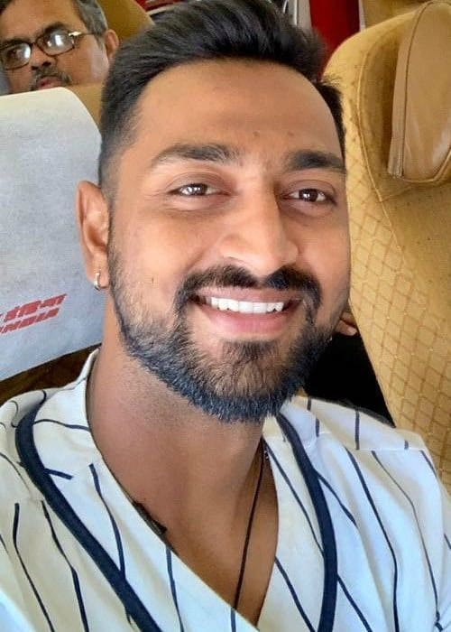 Krunal Pandya in an Instagram selfie as seen in February 2019