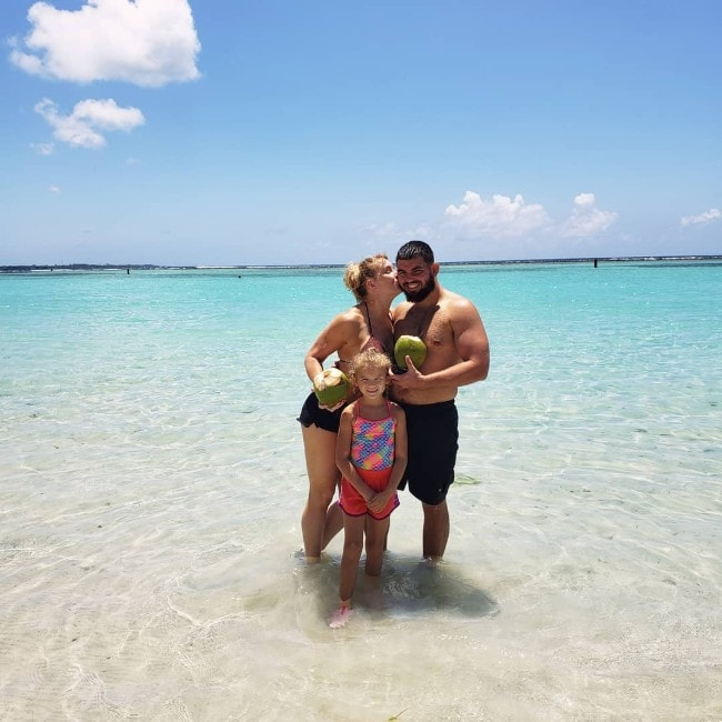 Lacey Evans with her family as seen in August 2019