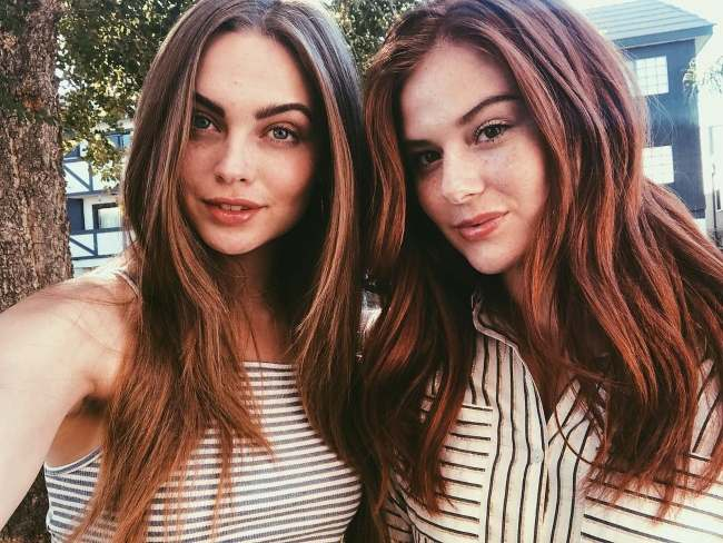 Lani and her friend and model Taylor Lovelace pictured together in September 2018