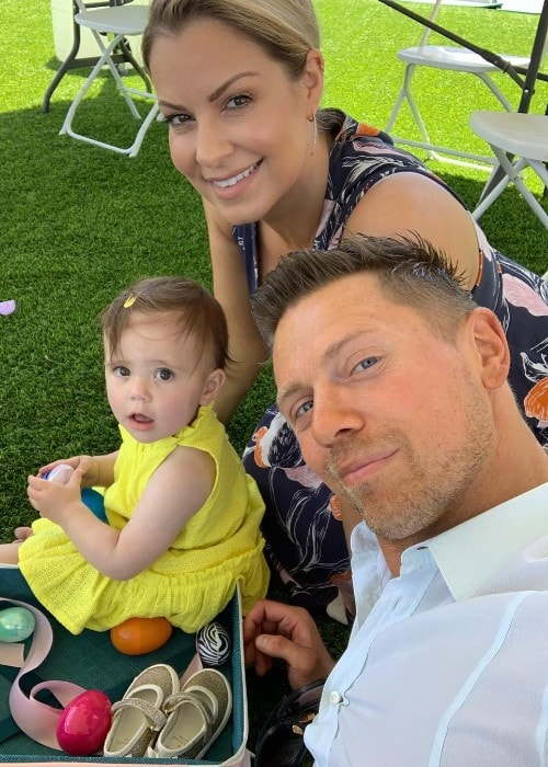 Maryse Ouellet with her family as seen in April 2019