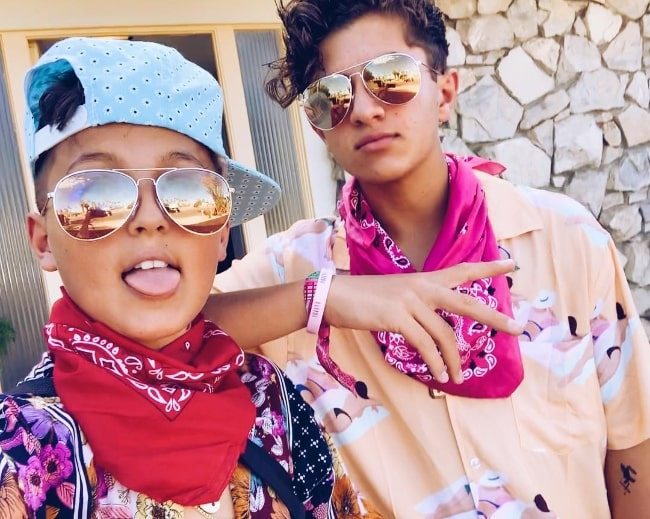 Mason Coutinho as seen while posing for a selfie with his younger brother, Julez, in May 2019