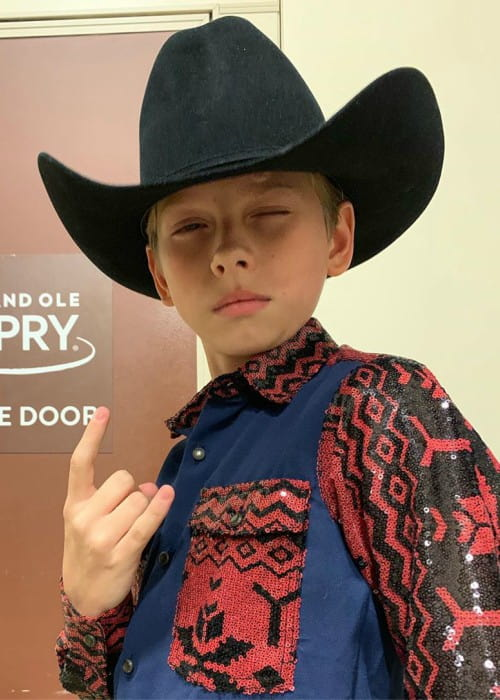 Mason Ramsey in an Instagram post as seen in July 2019
