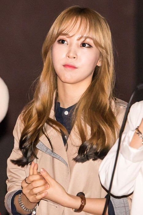 Moonbyul as seen in a picture in April 2015