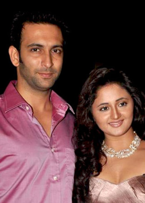 Nandish Sandhu and Rashami Desai as seen in a picture taken at the Telly Chakkar Awards in May 2012