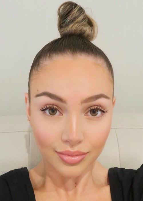 Nathalie Paris in an Instagram selfie as seen in August 2019