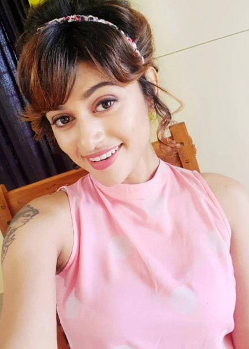Oviya as seen in a selfie taken in June 2019