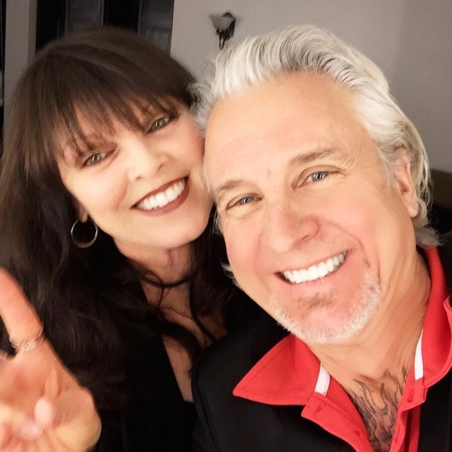 Pat Benatar with her husband as seen in May 2016