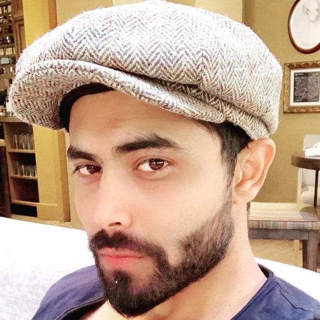 Ravindra Jadeja as seen in an Instagram selfie in July 2019