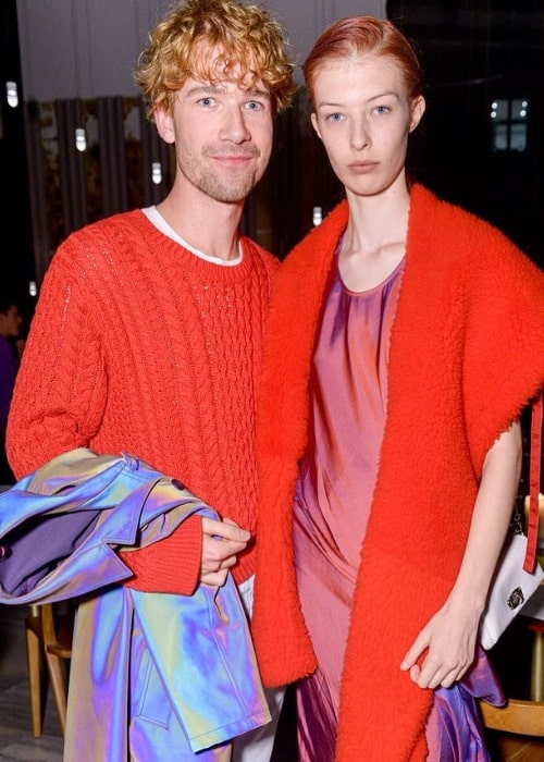 Remington Williams as seen while posing for the camera alongside fashion designer Sander Lak at the Sies Marjan Dinner in October 2018