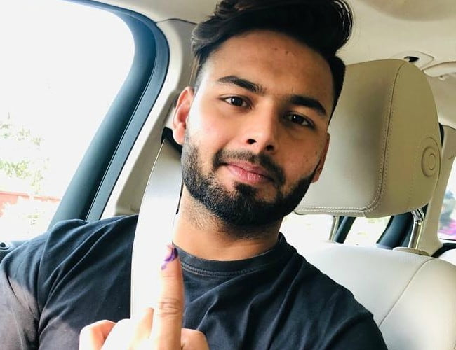 Rishabh Pant in an Instagram post as seen in May 2019