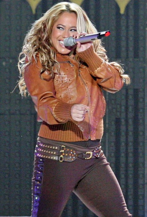 Sabrina Bryan during a performance in October 2008