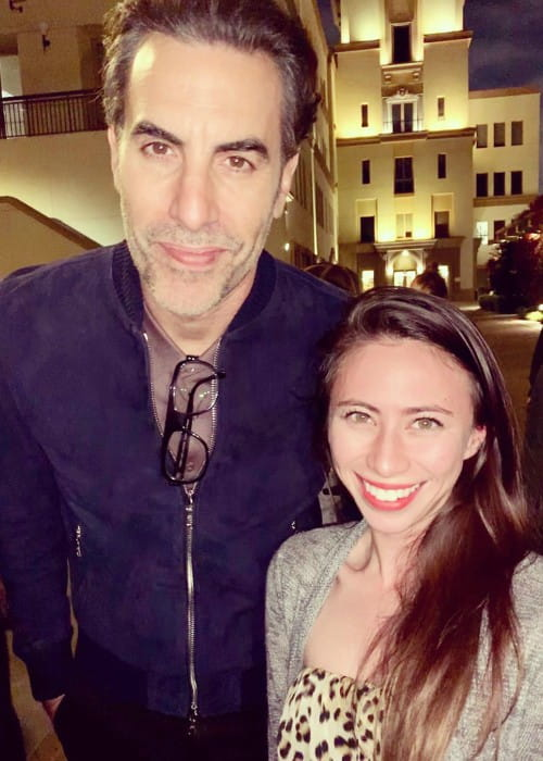 Sacha Baron Cohen and Jennie Marie Pacelli as seen in May 2019