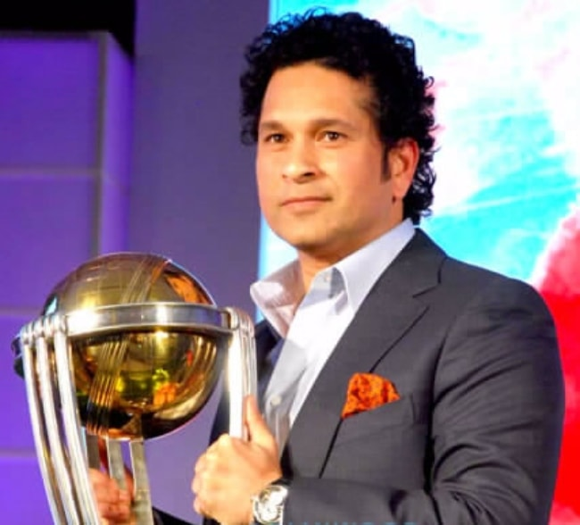 Sachin Tendulkar as seen at the MRF promotion event in February 2015