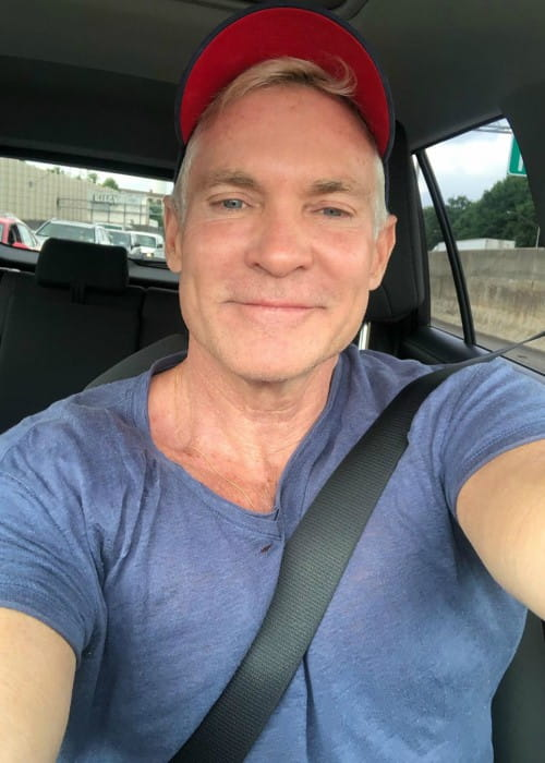 Sam Champion in a selfie as seen in July 2019