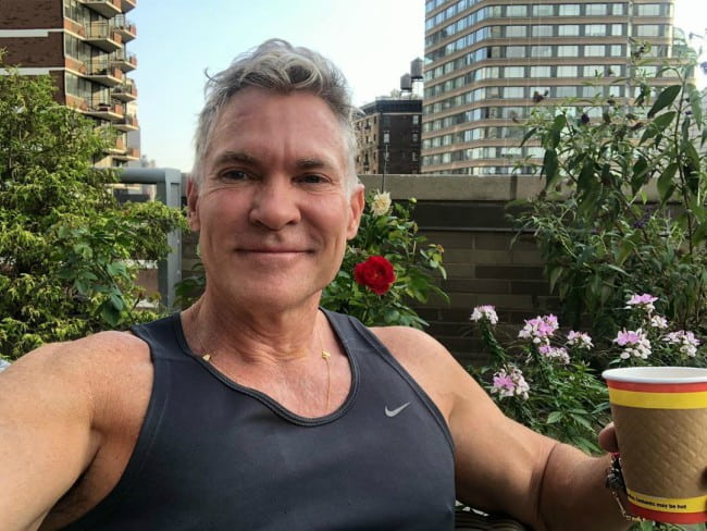 Sam Champion in a selfie in August 2019