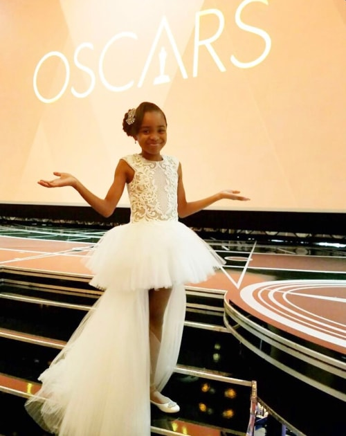 Saniyya Sidney as seen in a picture taken at the Oscars in Dolby Theatre, Hollywood Blvd in February 2017