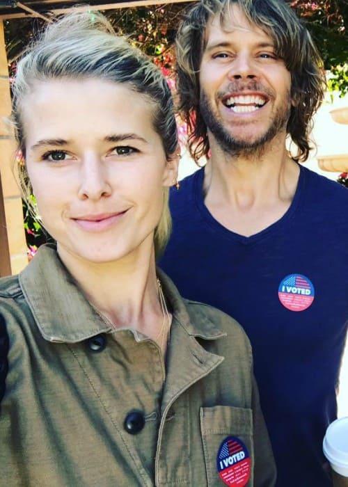 Sarah Wright Olsen and Eric Christian Olsen in a selfie in November 2018
