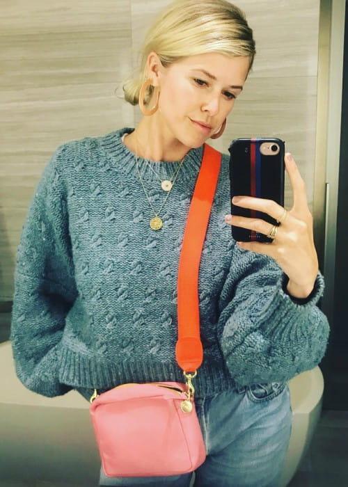 Sarah Wright Olsen in a selfie in May 2019