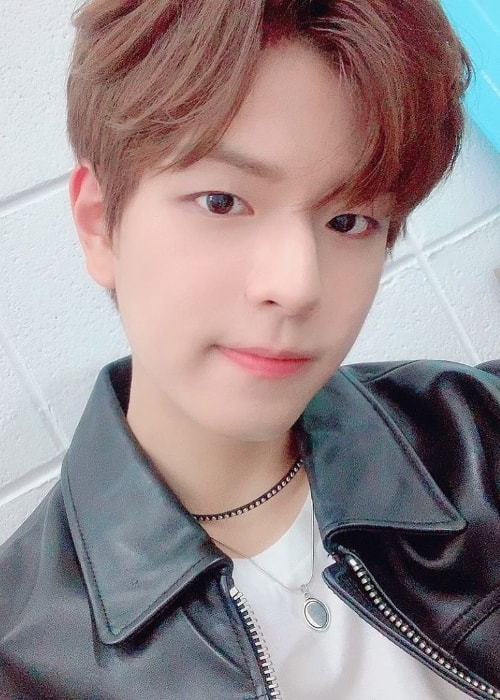 Seungmin as seen while clicking a selfie in July 2019