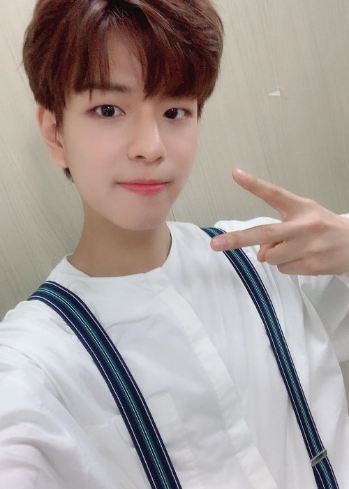 Seungmin as seen while taking a selfie in June 2019