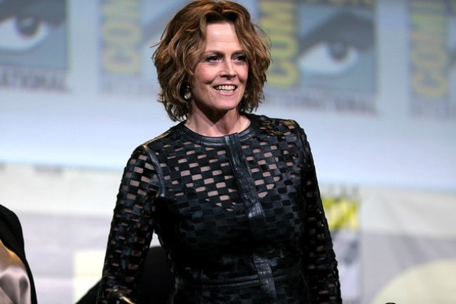 Sigourney Weaver speaking at the 2016 San Diego Comic Con International