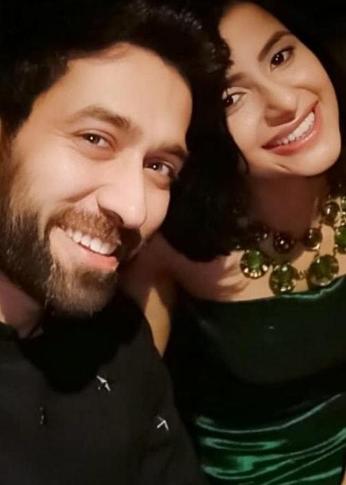 Subha Rajput as seen in a selfie with her actor Nakuul Mehta taken in December 2018
