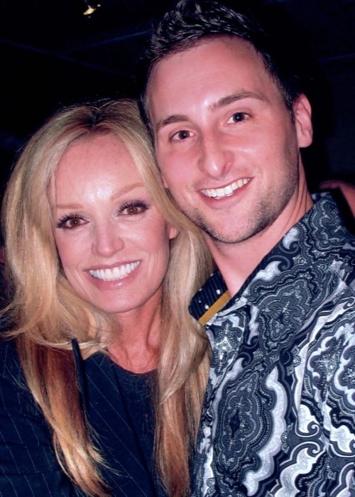 Susan Anton as seen while posing for a picture along with David Grabstald in San Francisco, California, United States
