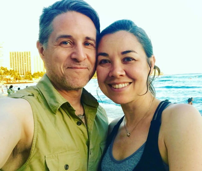 Tara Platt and Yuri Lowenthal as seen in July 2019