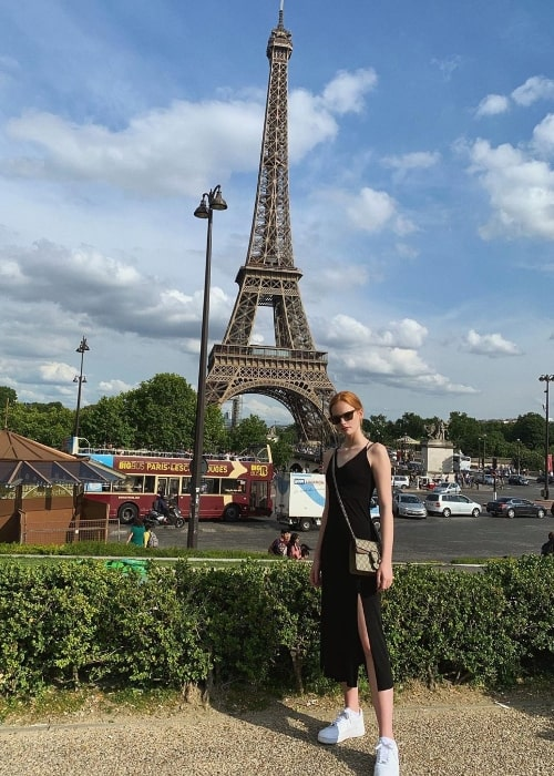 Tatum Marchetti as seen while posing for a beautiful picture with the Eiffel Tower in the backdrop in Paris, France in June 2019