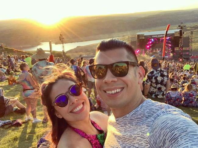 Tiffany Garcia and Mario Herrera in a selfie in June 2019