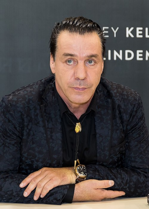 Till Lindemann at Buchmesse at Messegelände, Frankfurt, Hessen, Germany in October 2017