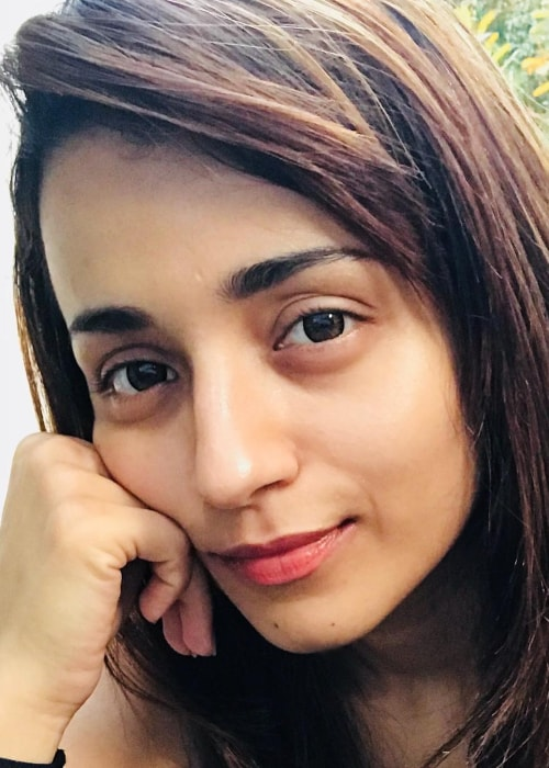Trisha Krishnan as seen in a selfie taken in October 2018